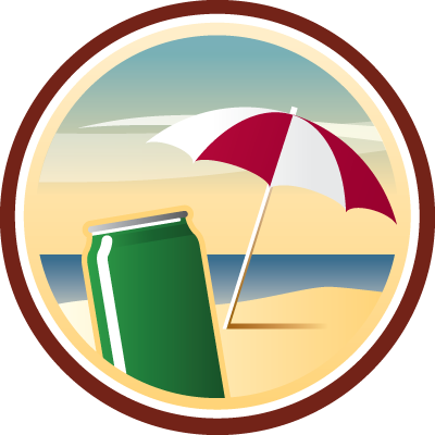 Beach Bum Untappd badge brought to you by thekruser